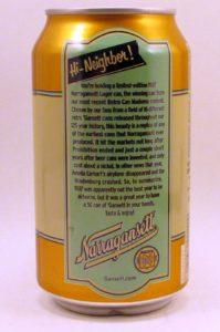 Narragansett's 1937 can (reverse)