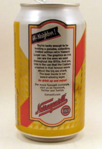 Narragansett's 1976 can (reverse)