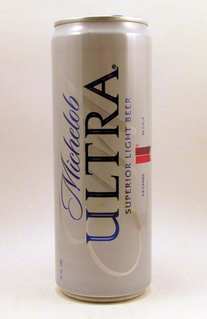 Michelob Ultra-white can